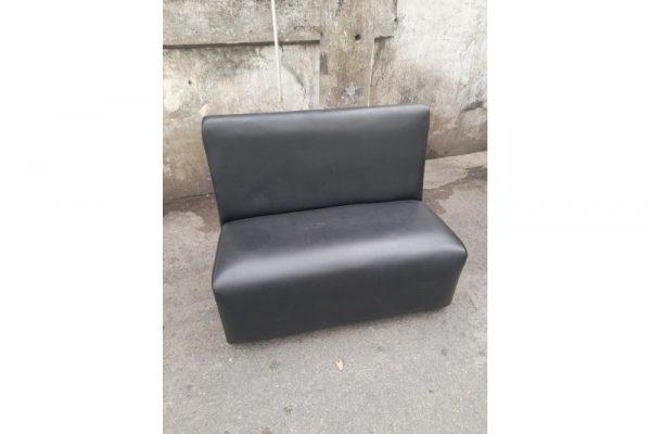 Thanh lý Ghế sofa bọc simili màu đen cũ - GSFC53