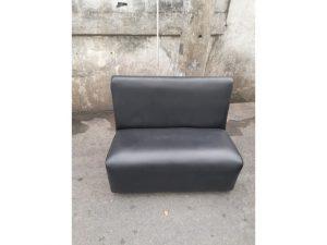 Thanh lý Ghế sofa bọc simili màu đen cũ - GSFC52