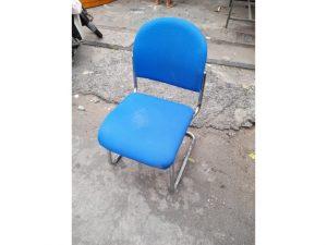Thanh lý Ghế chân quỳ inox bọc vải xanh cũ - GVPC229