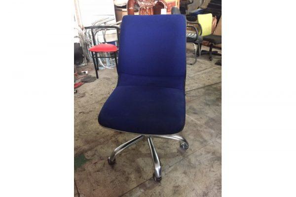 Ghế chân xoay inox bọc nỉ xanh cũ giá rẻ