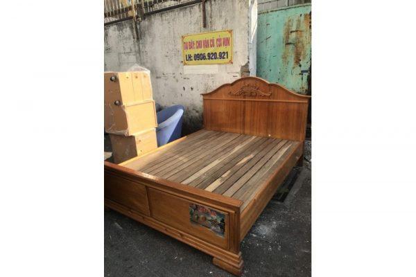 Thanh lý Giường gỗ Nhật 1m6x2m cũ tồn kho giá rẻ