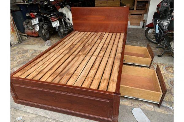 Thanh lý Giường gỗ cũ 1m2x2m có hộc cao cấp giá rẻ