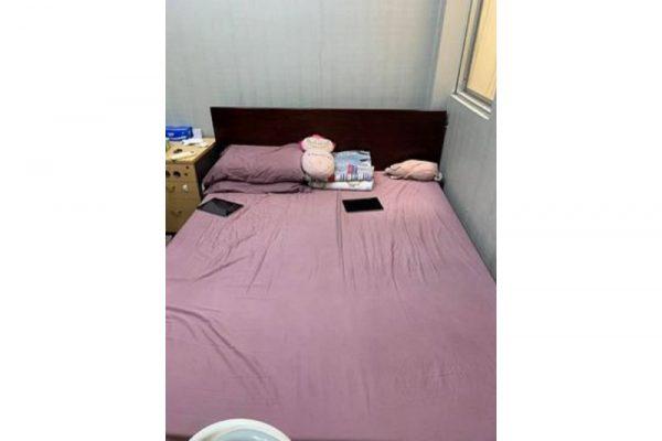 Thanh lý Giường gỗ cũ 1m6x 2m kiểu đẹp giá rẻ