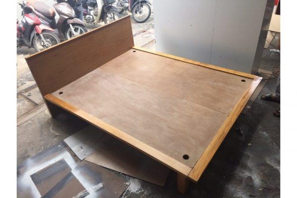 Thanh lý Giường gỗ 1m6x2m kiểu Nhật cao cấp giá rẻ