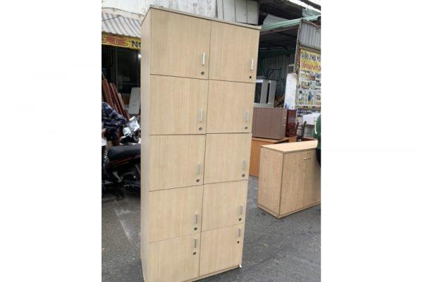 Thanh lý tủ locker gỗ 10 ngăn cũ giá rẻ