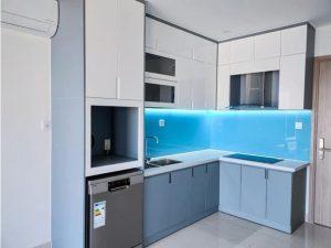 Tủ bếp đóng sẵn giá rẻ cho căn hộ cao cấp mẫu 04