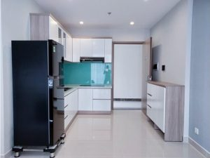 Tủ bếp đóng sẵn giá rẻ cho căn hộ cao cấp mẫu 07