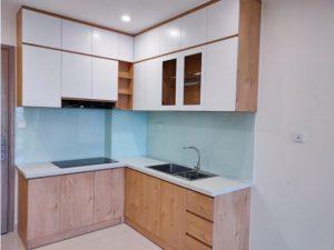 Tủ bếp đóng sẵn giá rẻ cho căn hộ cao cấp mẫu 09