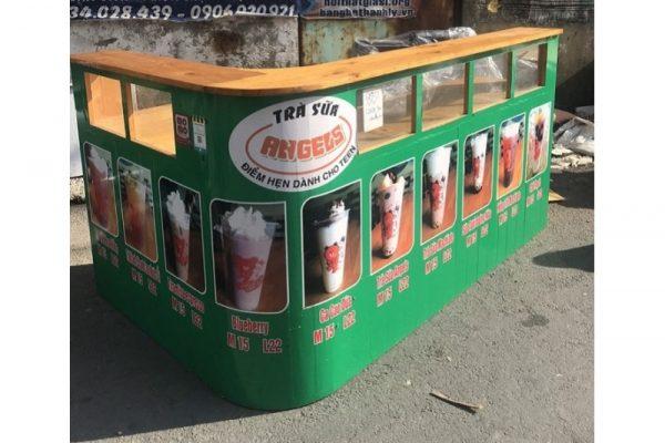 Thanh lý Quầy trà sữa chữ L cao cấp giá rẻ