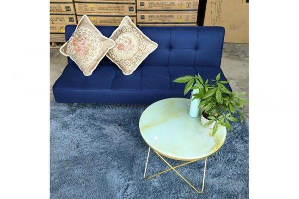 Thanh lý Ghế sofa bed bọc vải màu xanh mới giá rẻ