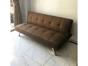 Thanh lý Ghế sofa bed boc vải màu nâu mới giá rẻ