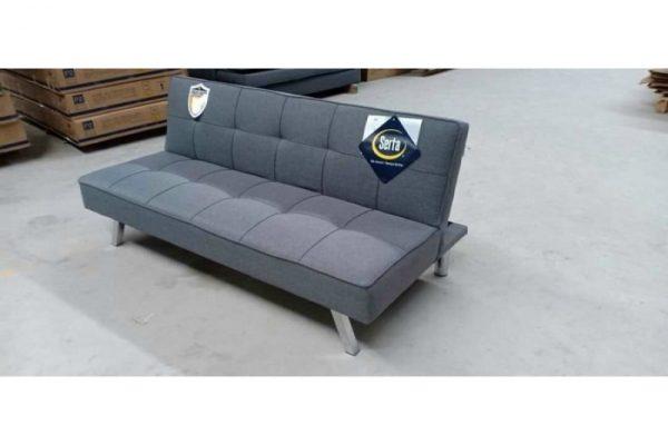 Thanh lý Ghế sofa bed bọc vải xám tồn kho giá rẻ