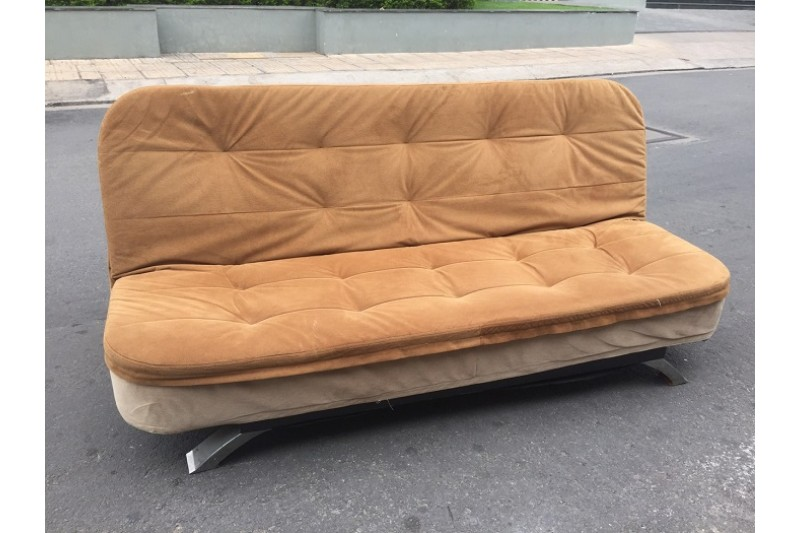 Thanh lý Sofa bed 1m9 bọc vải nâu cao cấp giá rẻ
