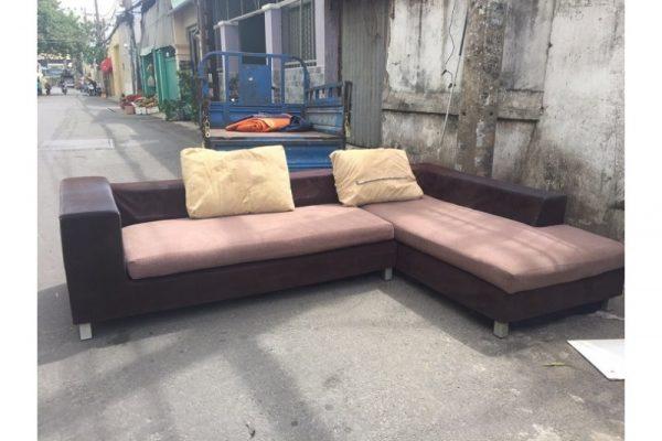 Thanh lý Ghế sofa góc L bọc vải cũ giá rẻ
