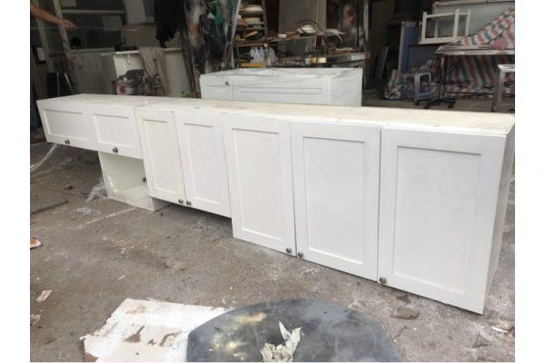 Thanh lý Tủ bếp trên 3m2 màu trắng cũ giá rẻ