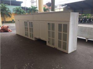 Thanh lý Tủ bếp treo cũ 3.35m màu trắng giá rẻ