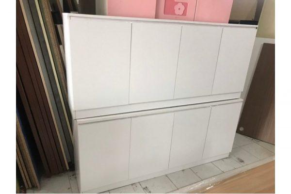 Thanh lý Tủ hồ sơ thấp 4 cánh màu trắng cũ giá rẻ