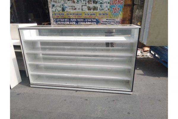 Thanh lý Tủ kính trưng bày cũ dài 2m giá rẻ