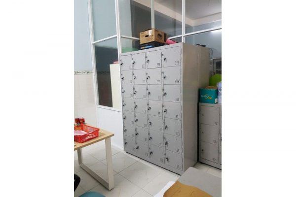 Thanh lý Tủ locker sắt 28 ngăn mới giá rẻ M23