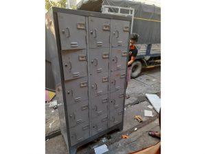 Thanh lý Tủ locker sắt 15 ngăn hàng cũ giá rẻ