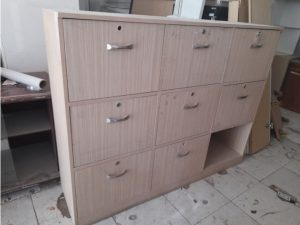 Thanh lý Tủ locker gỗ 9 ngăn cũ tồn kho giá rẻ