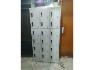 Thanh Lý Tủ Locker Sắt 18 Ngăn Cũ Xám Ghi Giá Rẻ