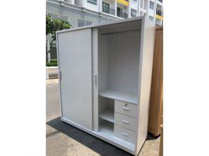 Tủ áo cửa lùa 1m8 màu trắng tồn kho M27