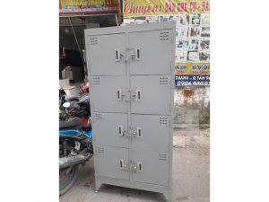 Thanh lý Tủ locker sắt 8 ngăn cũ giá rẻ tại kho