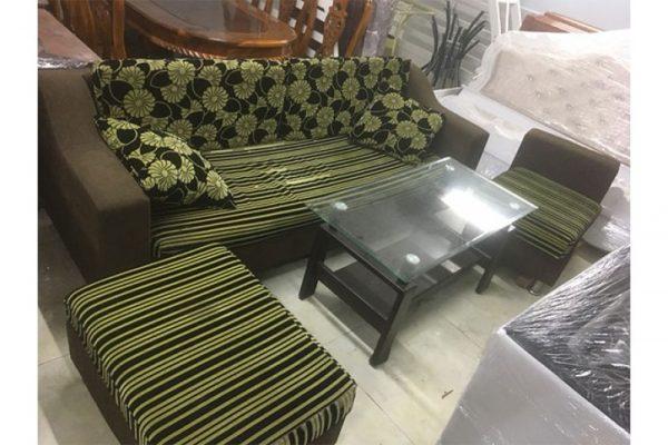 Bán Bộ Sofa Cũ Giá Rẻ Màu Nâu Xanh Lá SF002