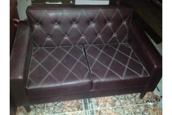 Thanh lý ghế sofa bọc da nâu