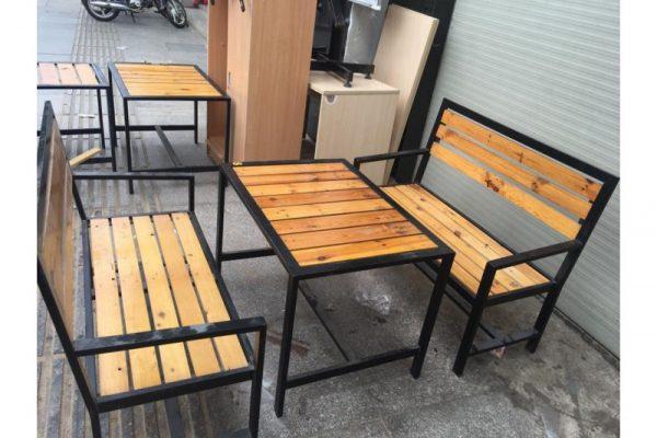 Thanh lý bàn ghế gỗ cafe CF05