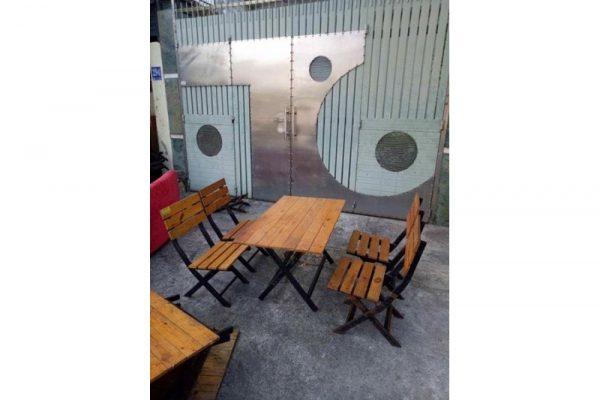 Thanh lý bàn ghế gỗ quán nhậu 01