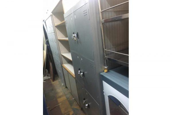 Thanh lý tủ locker sắt 6 ngăn mới 99%