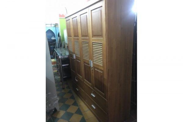 Tủ quấn áo 4 cánh cũ gỗ sồi