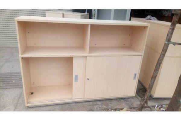 tủ hồ sơ cũ 4 ngăn 2 cánh màu nâu ths04