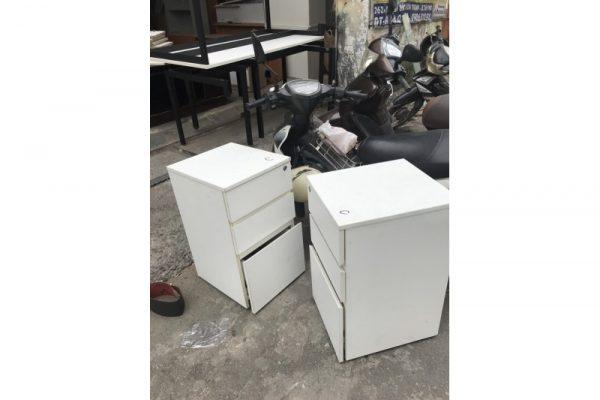 Tủ cabin màu trắng 3 ngăn cũ giá rẻ
