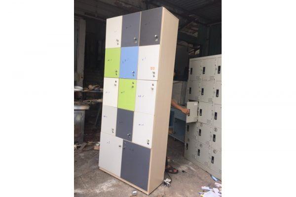 Thanh lý Tủ locker gỗ 90cmx2m2 cũ giá rẻ