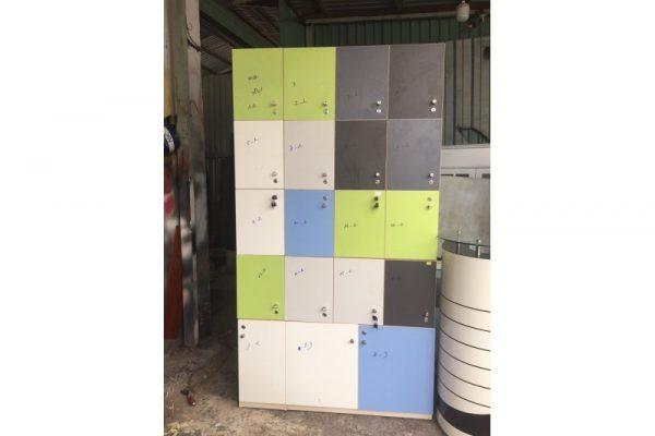 Thanh lý Tủ locker gỗ 1m2x2m2 cũ tồn kho giá rẻ