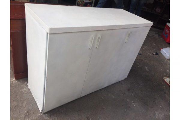 Thanh lý Tủ hồ sơ thấp 3 cánh màu trắng cũ giá rẻ