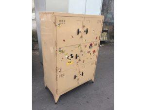 Tủ sắt đựng đồ 6 ngăn màu gold cũ giá rẻ
