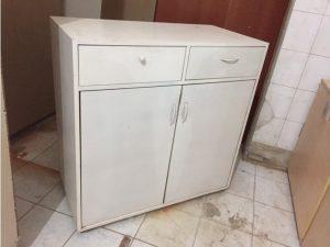 Tủ hồ sơ cũ màu trắng 2 cánh tồn kho giá rẻ