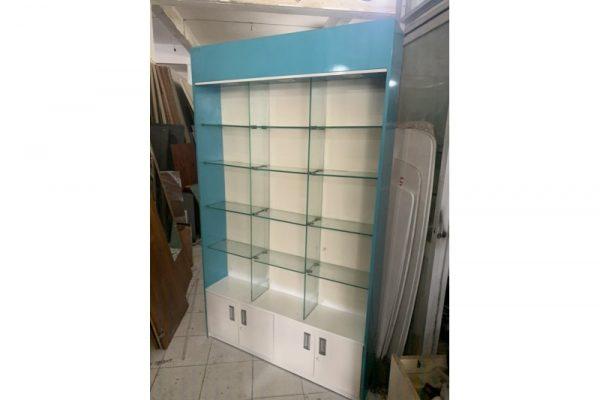 Thanh lý Tủ kệ trưng bày đợt kính 1m2x2m cũ giá rẻ
