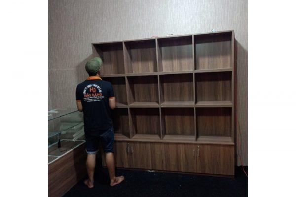 Thanh lý Tủ trưng bày 2m nhiều ngăn đóng mới M21