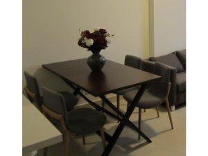 Thanh lý bộ bàn ăn 4 ghế cũ màu nâu giá rẻ