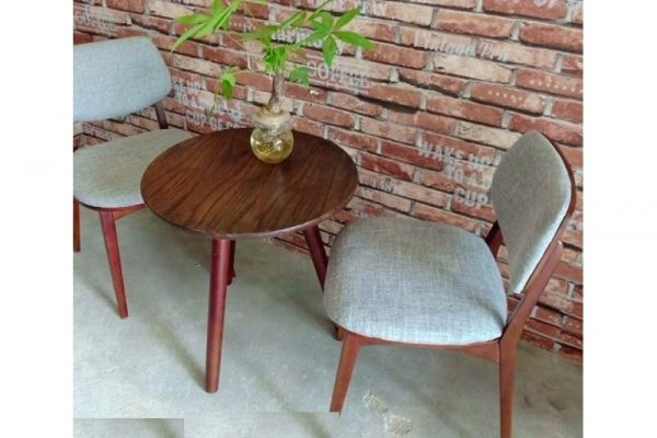 Thanh lý bộ bàn ghế gỗ nệm vải G19 giá rẻ