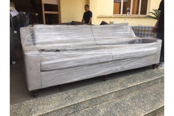 Thanh lý băng sofa cũ màu xám