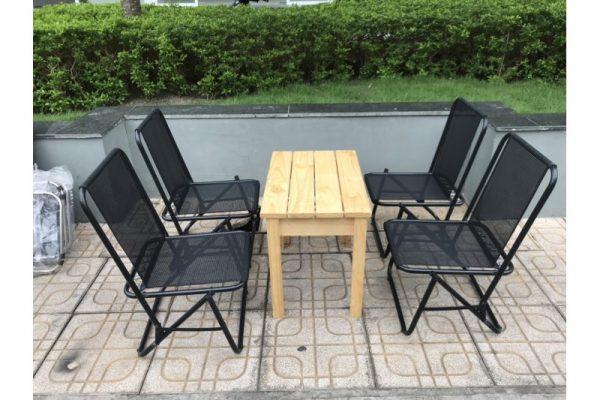 Bộ bàn ghế cafe xếp lưới Mã M94