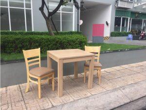 Thanh lý bộ bàn 2 ghế gỗ cũ M12 giá rẻ