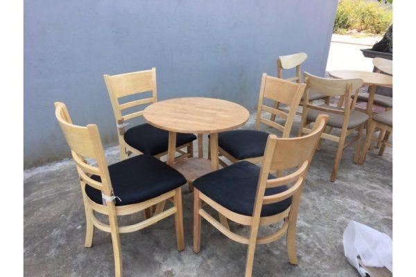 Thanh lý bàn ghế cafe cabin 4 ghế bàn tròn