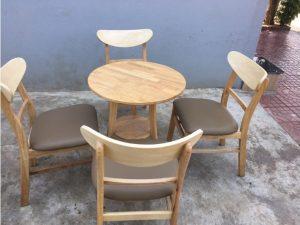 Thanh lý bộ bàn ghế cafe mango màu vàng